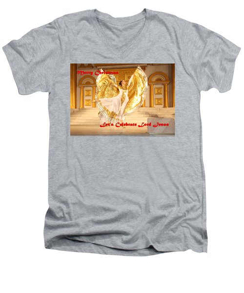 Let's Celebrate Lord Jesus4 Men's V-Neck T-Shirt