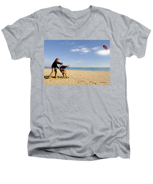 Let's Go Fly A Kite Men's V-Neck T-Shirt
