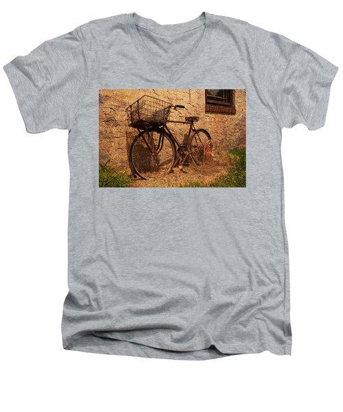 Let's Go Ride A Bike Men's V-Neck T-Shirt