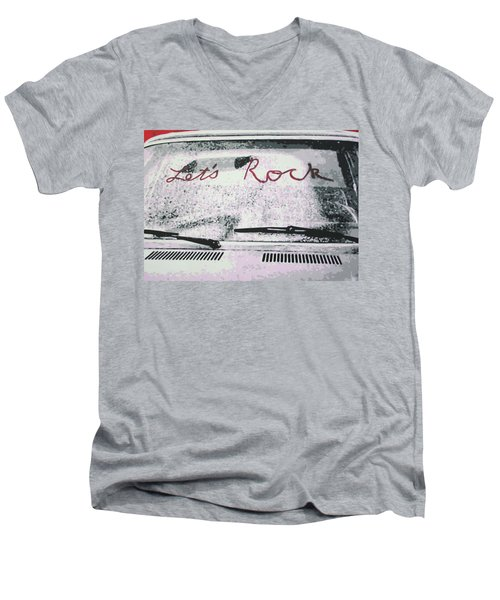 Lets Rock Men's V-Neck T-Shirt