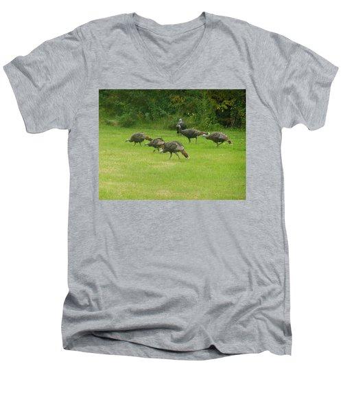 Let's Turkey Around Men's V-Neck T-Shirt