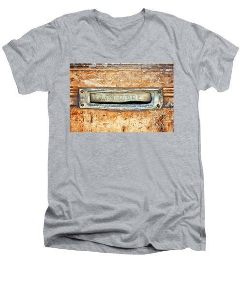 Lettere Letters Men's V-Neck T-Shirt by Silvia Ganora