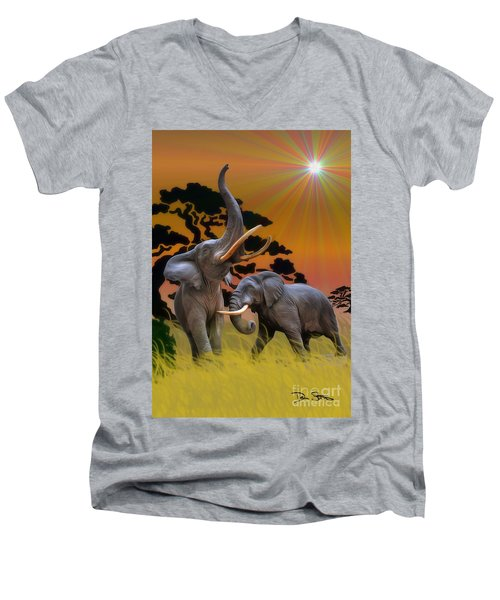 Leviathans Of The Land Men's V-Neck T-Shirt