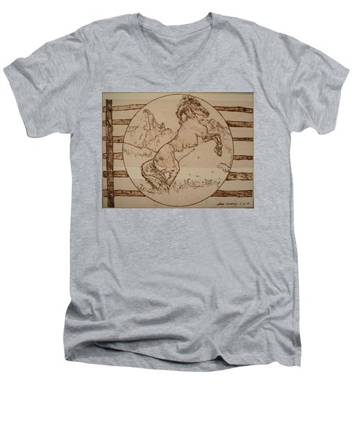 Wild Horse Men's V-Neck T-Shirt by Sean Connolly