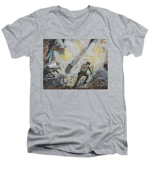 Liberator's Guardian Angles Men's V-Neck T-Shirt