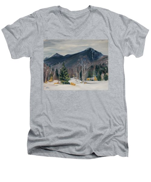 Liberty In Franconia Range Men's V-Neck T-Shirt
