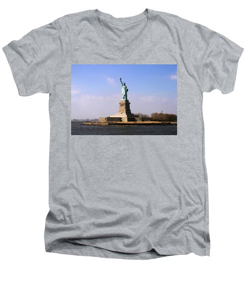 Liberty Island Men's V-Neck T-Shirt