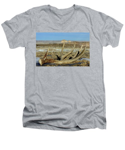 Men's V-Neck T-Shirt featuring the photograph Life Above The Buttes by Shane Bechler