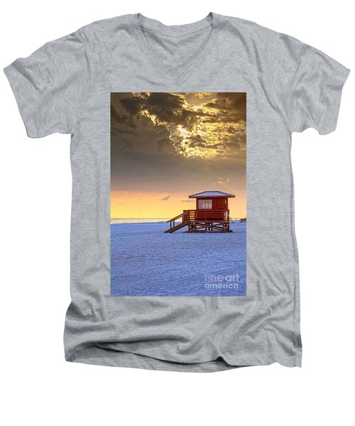 Life Guard 1 Men's V-Neck T-Shirt by Marvin Spates