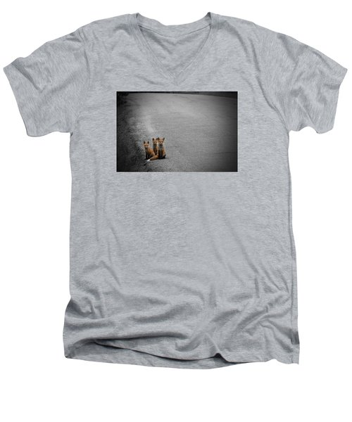 Life Is An Unknown Highway Men's V-Neck T-Shirt by Jim Garrison