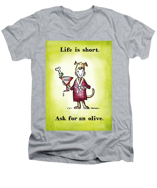 Life Is Short Men's V-Neck T-Shirt