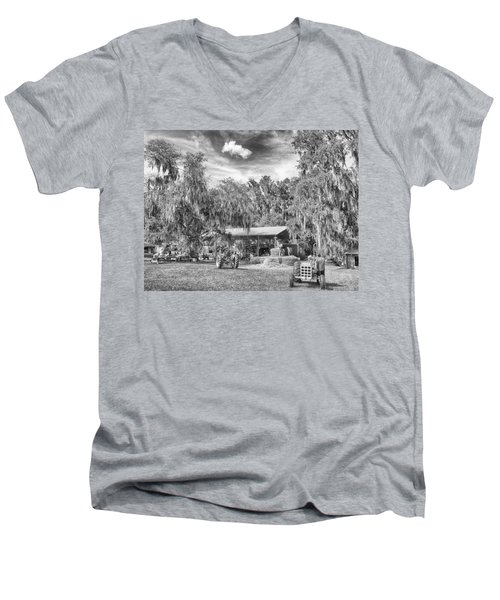 Men's V-Neck T-Shirt featuring the photograph Life On The Farm by Howard Salmon