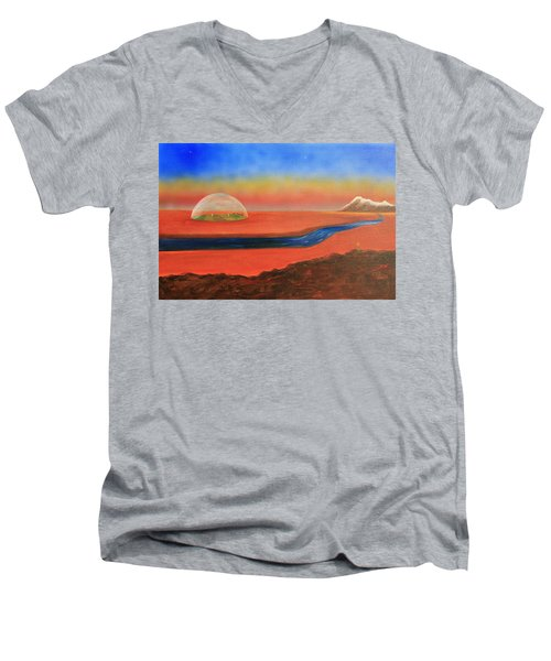 Life Will Find A Way Men's V-Neck T-Shirt by Tim Mullaney