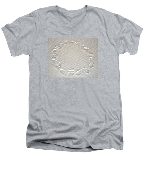 Life's A Beach Men's V-Neck T-Shirt by Charlie and Norma Brock