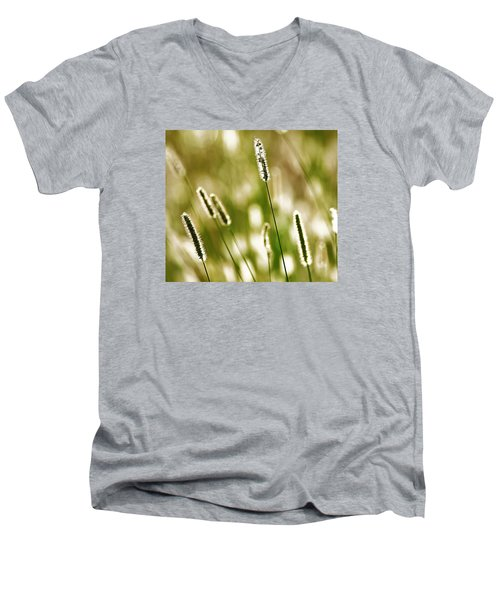 Men's V-Neck T-Shirt featuring the photograph Light Play by Andy Crawford