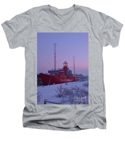 Men's V-Neck T-Shirt featuring the photograph Light Ship by John Williams