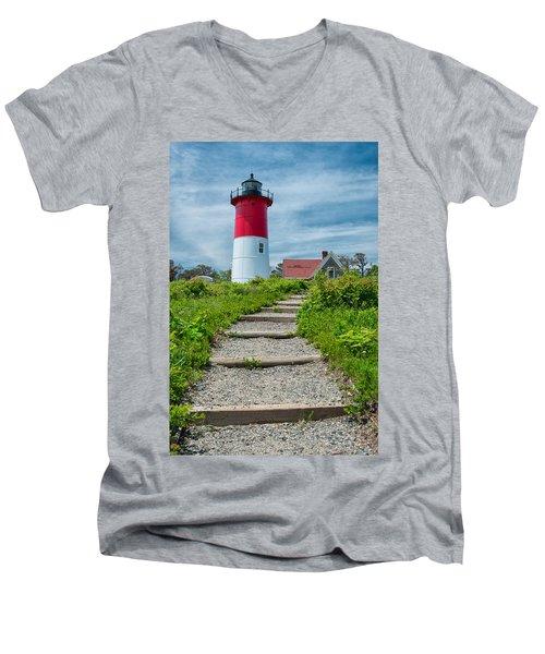 Light Steps Men's V-Neck T-Shirt