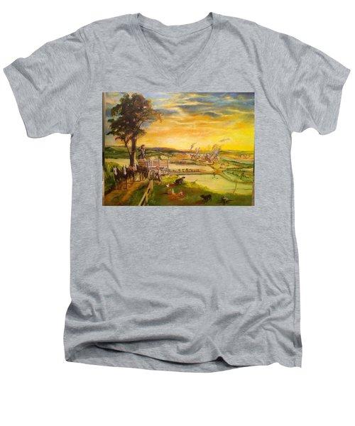 light2 - Shadows Men's V-Neck T-Shirt by Mary Ellen Anderson