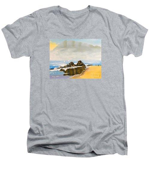 Lighthouse Beach Men's V-Neck T-Shirt