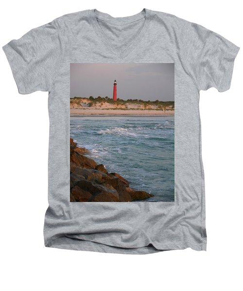 Lighthouse From The Jetty 2 Men's V-Neck T-Shirt