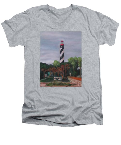Lighthouse Morning Men's V-Neck T-Shirt