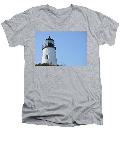 Lighthouse On Clear Day Men's V-Neck T-Shirt
