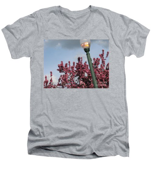 Men's V-Neck T-Shirt featuring the photograph Lighting Up The Day by Michael Krek