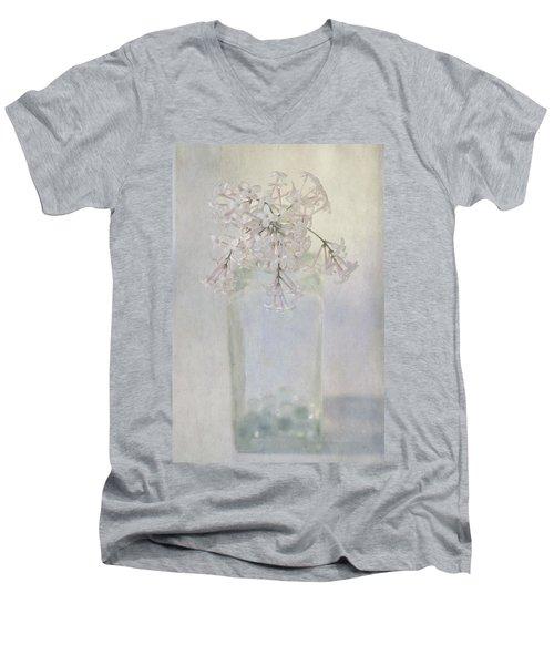 Lilac Flower Men's V-Neck T-Shirt
