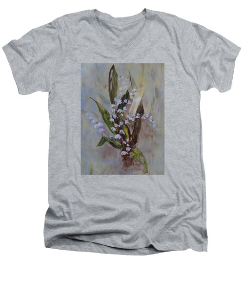 Lilies-of-the-valley Men's V-Neck T-Shirt