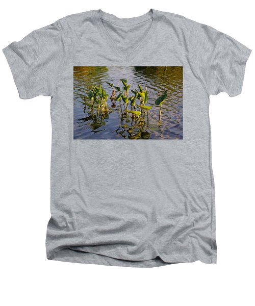 Lillies In Evening Glory Men's V-Neck T-Shirt
