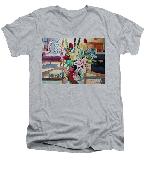 Lily Still Life Men's V-Neck T-Shirt