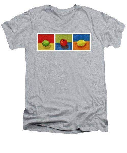 Lime Apple Lemon Men's V-Neck T-Shirt