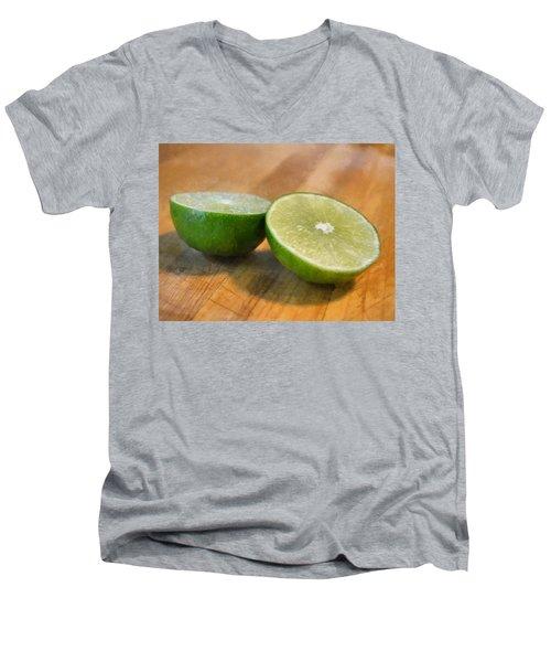 Lime Men's V-Neck T-Shirt