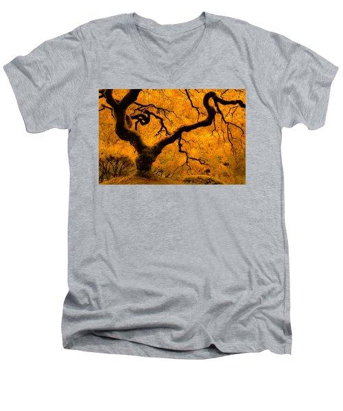 Limned In Light Men's V-Neck T-Shirt