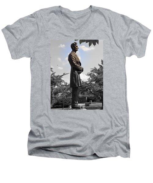 Lincoln At Lytle Park Men's V-Neck T-Shirt