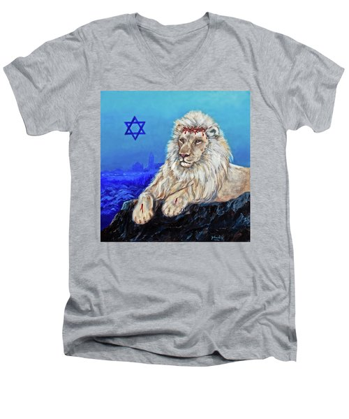Lion Of Judah - Jerusalem Men's V-Neck T-Shirt