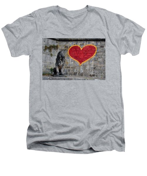 Lionheart Men's V-Neck T-Shirt