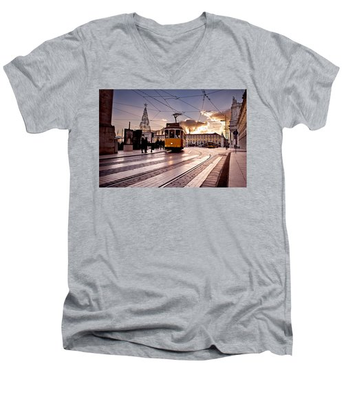 Lisbon Light Men's V-Neck T-Shirt