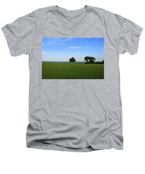 Men's V-Neck T-Shirt featuring the photograph Listening To The Breeze  by Neal Eslinger