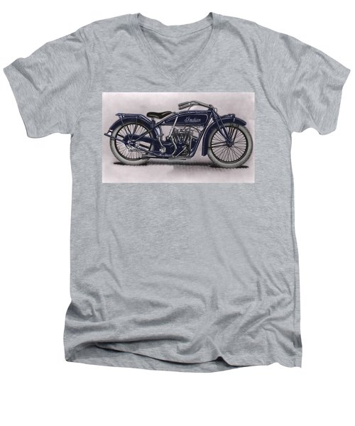 Little Blue Indian 2 Men's V-Neck T-Shirt