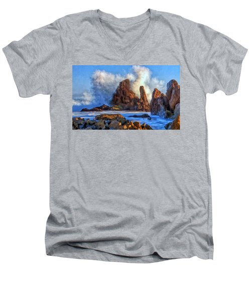 Little Corona Men's V-Neck T-Shirt by Michael Pickett