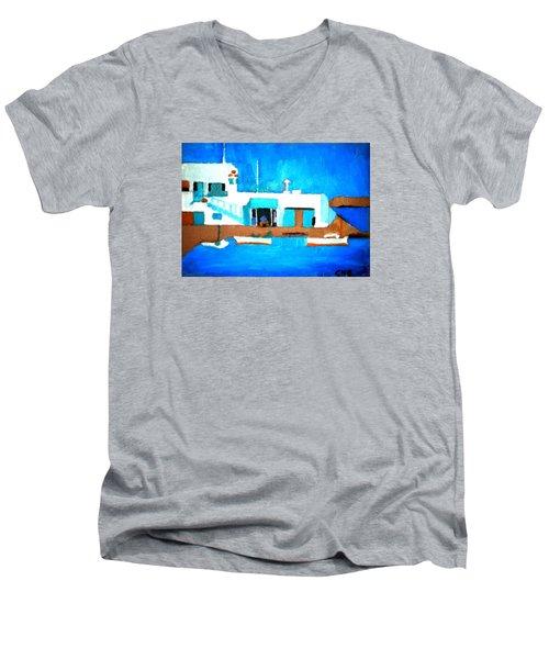 Paros  Cute Spot On Greek Island Men's V-Neck T-Shirt
