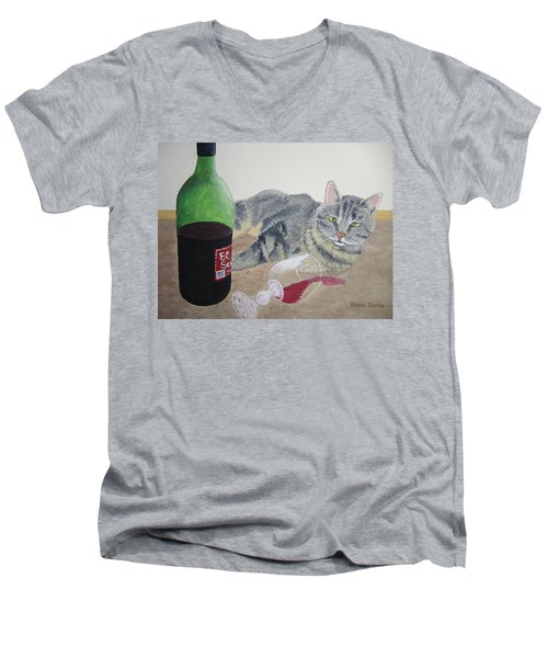 Little Ol' Wine Drinker Me Men's V-Neck T-Shirt