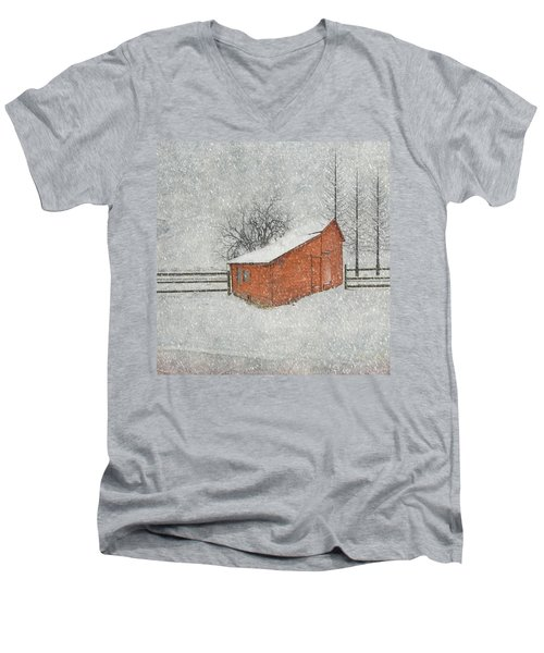 Little Red Barn Men's V-Neck T-Shirt