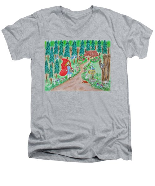 Little Red Riding Hood Men's V-Neck T-Shirt