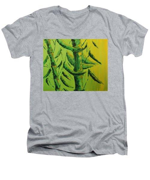 Lively Lime Bamboo Men's V-Neck T-Shirt