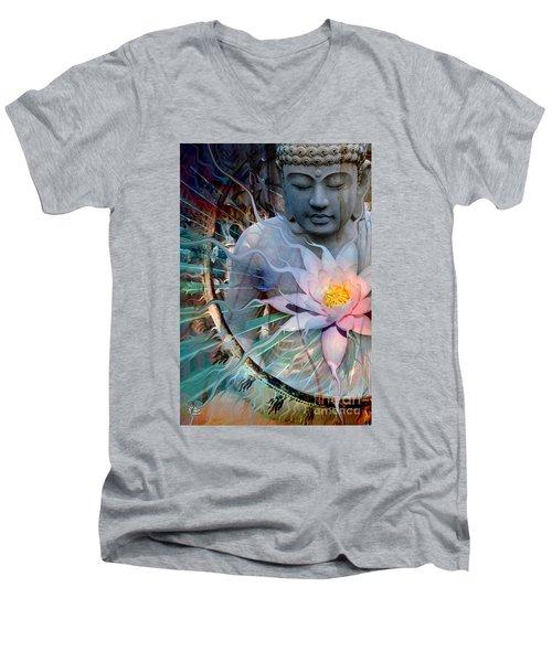 Living Radiance Men's V-Neck T-Shirt by Christopher Beikmann