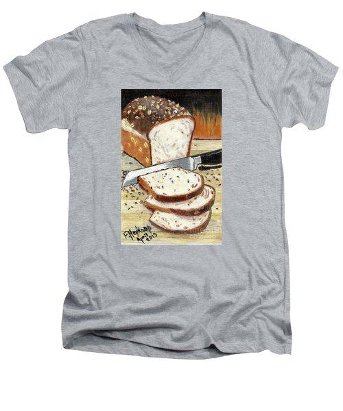 Loaf Of Bread Men's V-Neck T-Shirt by Francine Heykoop