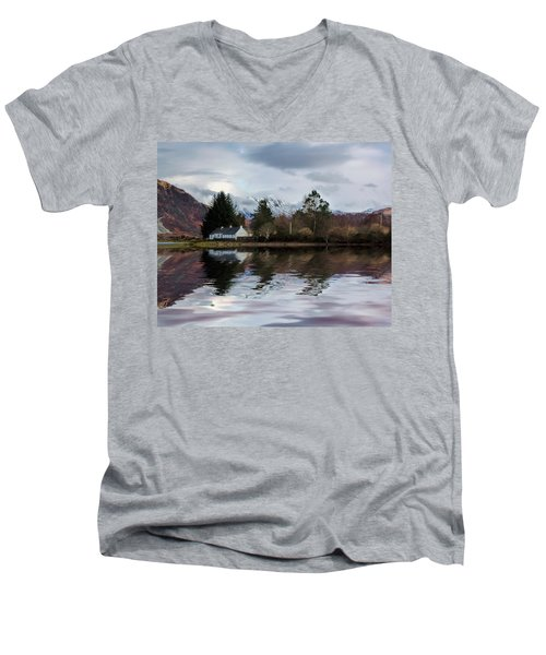 Loch Etive Reflections Men's V-Neck T-Shirt by Lynn Bolt