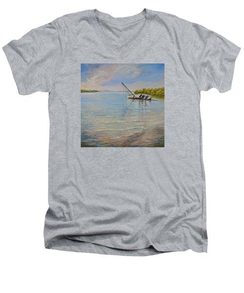 Locked Men's V-Neck T-Shirt by AnnaJo Vahle